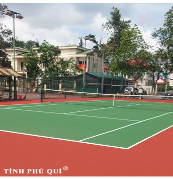 sơn sân tennis 8 lớp plex