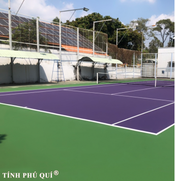 son sân tennis 4 lớp
