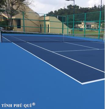 sơn sân tennis 4 lớp có cao su chống nứt